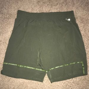 Green olive Russel athletic shorts nylon XL